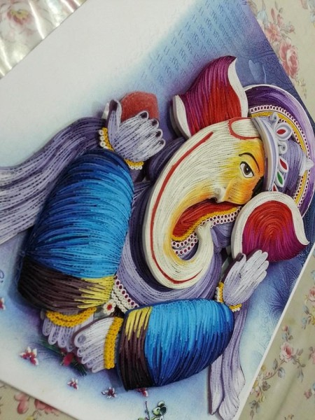 quilled ganesha - beginers quilling tool