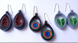 quilling tutorial Three simple teardrop earring tutorial