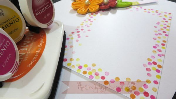 Tight quilled flower tutorial shaker card tutorial (23)