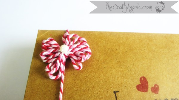 Bakers Twine Bow embellishment Tutorial - The Crafty Angels