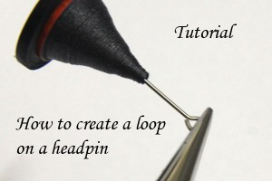 quilling tutorial how to make headpin loop