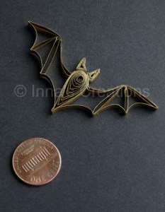 QUILLING TUTORIAL quilled bat