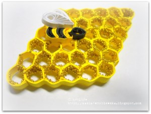 quilling tutorial quilled beehive honey comb