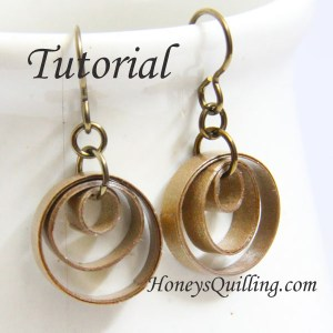 quilling tutorial multi circle earring tutorial