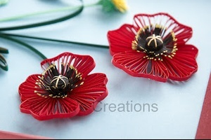 quilling tutorial quilled poppies