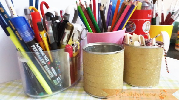 Upcycled Tin can pen holder tutorial washi tape craft (1)