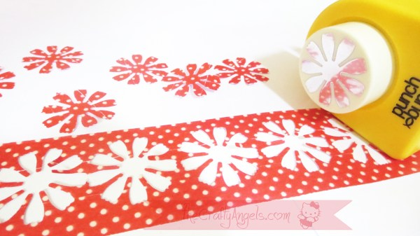 Handmade flower with washi tape tutorial (13)