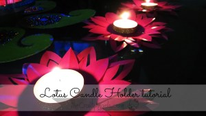 Lotus candle holder tutorial