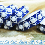 Tealight candle decoration with Washi tape