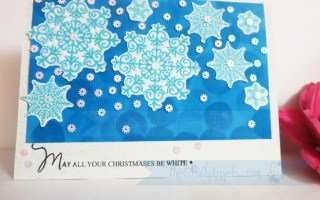 Snowflakes christmas card (2)