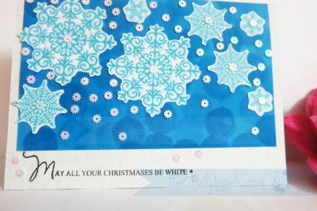 Snowflakes christmas card (2)