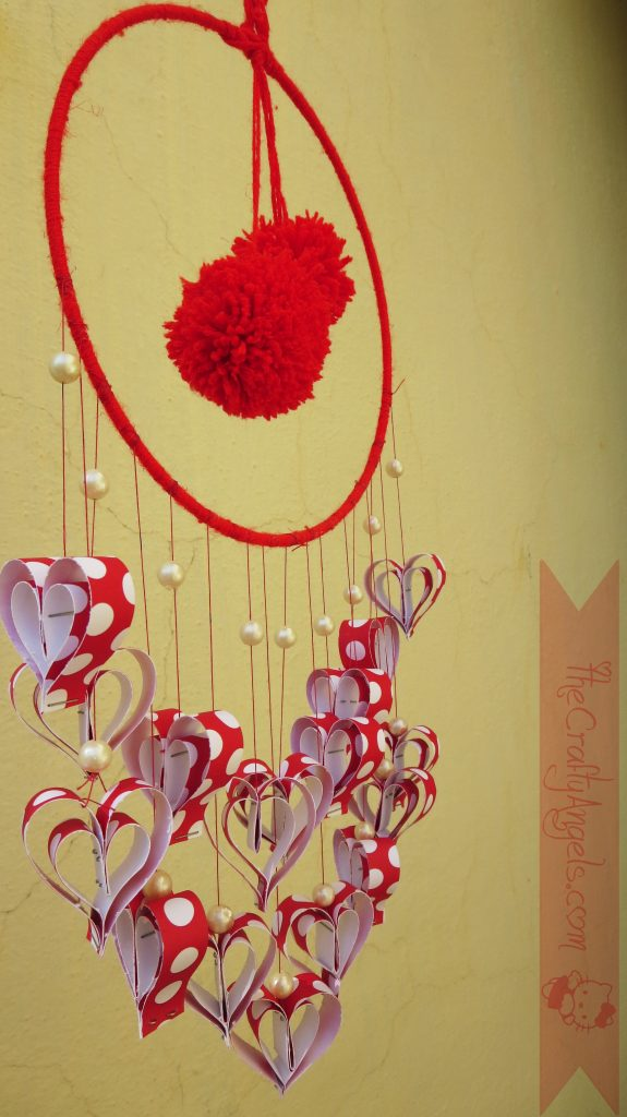 Paper hearts Wall hanging tutorial -
