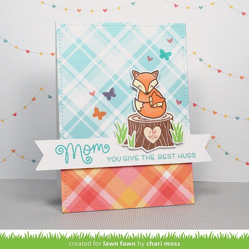 Pattern paper card, pattern paper, cardmaking in india, plaid pattern