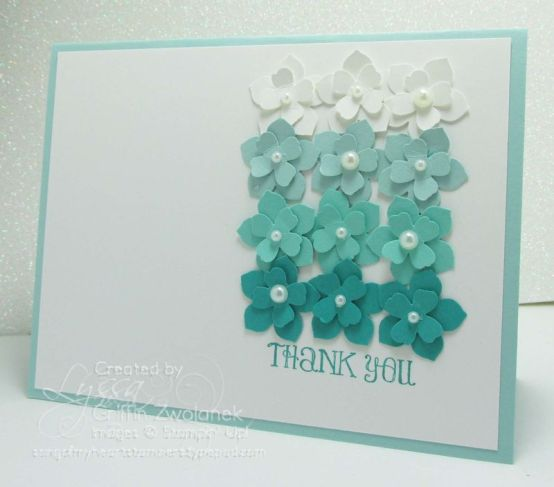 punch flower card, punchcraft, flowermaking, paper flower