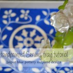 DIY Handpainted Serving Tray Tutorial