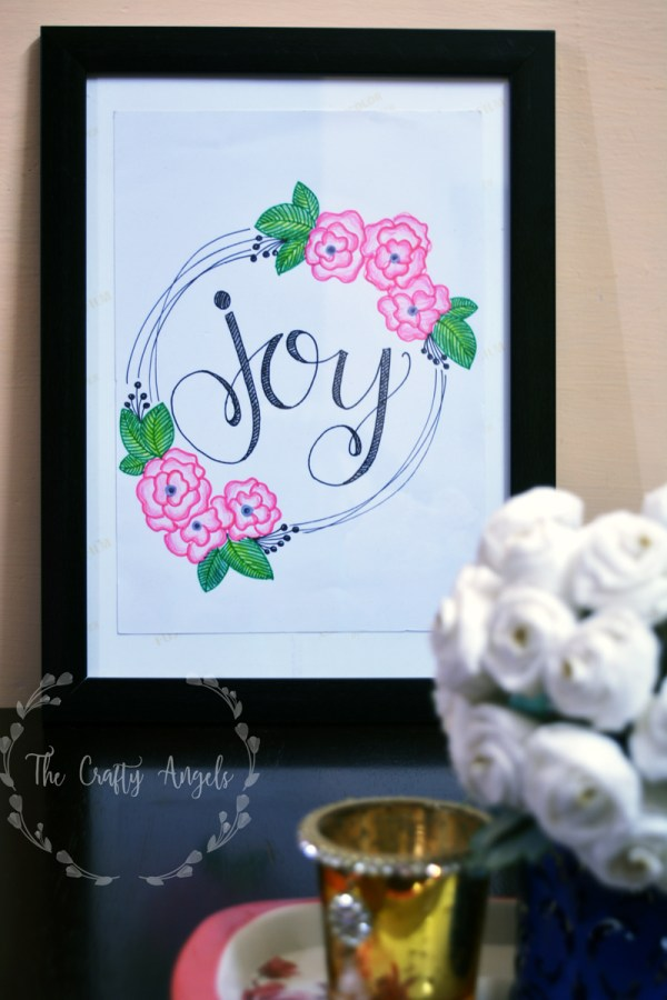 DIY framed quotes, wall quotes, doodle art, wall frame art , DIY quotes art
