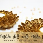 Pistachio shell candle holder tutorial