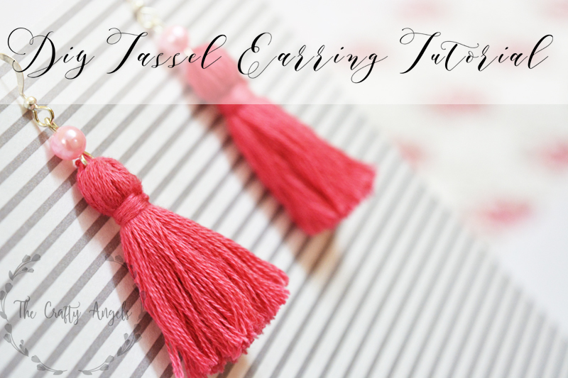 Diy Tassel Earrings Tutorial The Crafty Angels