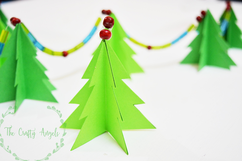 Lovely Diy Paper Christmas Tree Garland, Christmas Tree Decor, Christmas Tree  Ornament, Diy Tree