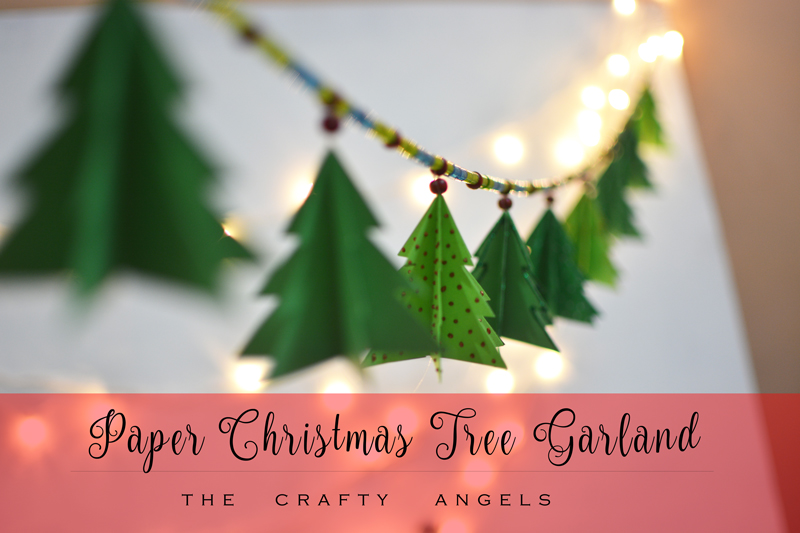 Paper Christmas Tree Garland Tutorial