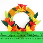 Kusudama Paper Flower Christmas Wreath Tutorial