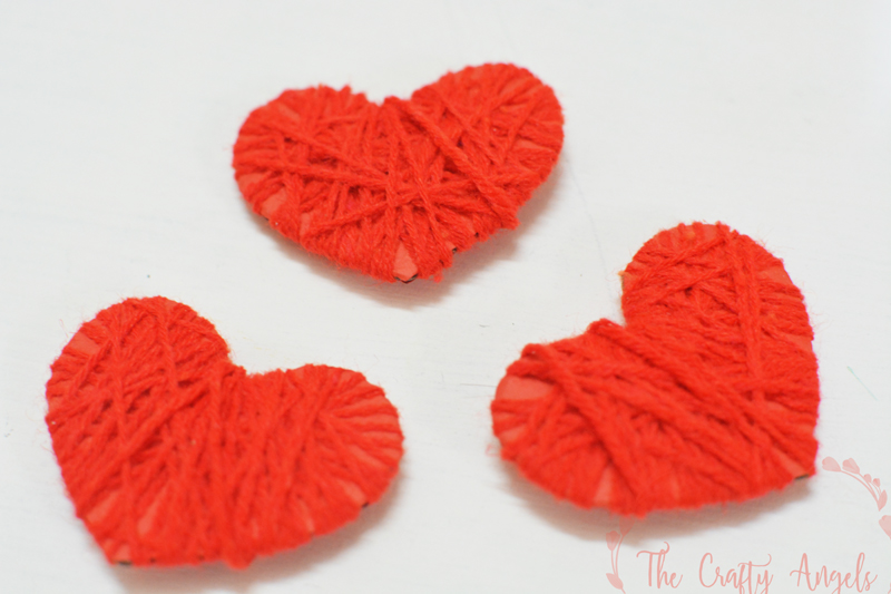 yarn wrapped hearts, hearts craft, valentines day craft, valentines gift, diy heart, diy heart, paper heart, yarn heart