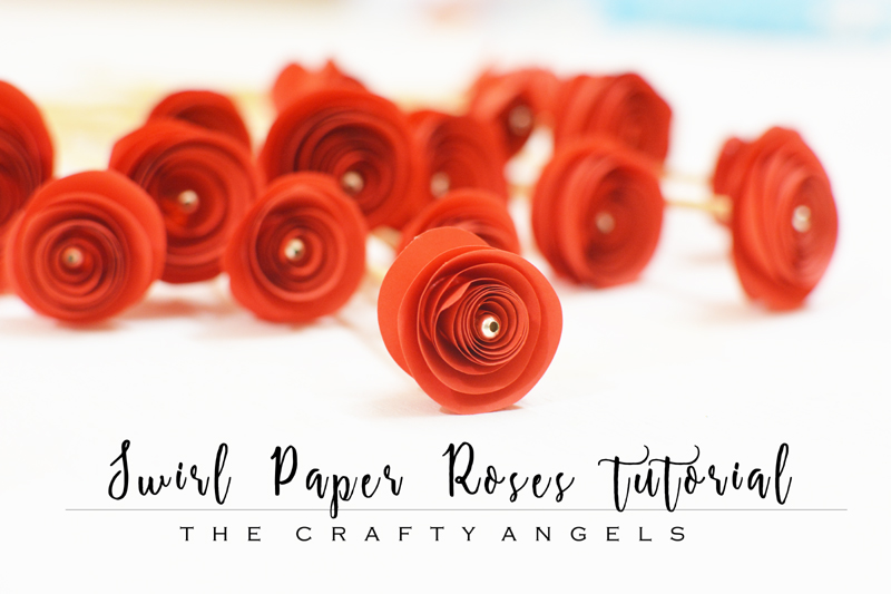 Swirl Paper Roses Tutorial The Crafty Angels