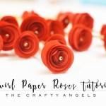 Swirl paper roses tutorial