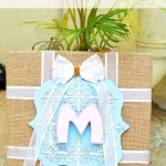 Making chic DIY Monogram wall art for Nursery