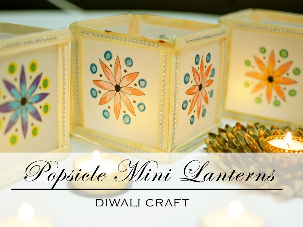 Mini Mandala diwali lantern with popsicles, diwali craft ideas, mandala craft, 5 minutes craft, paper lantern for christmas, christmas lights, diy christmas lights, diwali craft, dieali ideas, diwali decoration, 5 minutes crafts, paper crafts, thecraftyangels