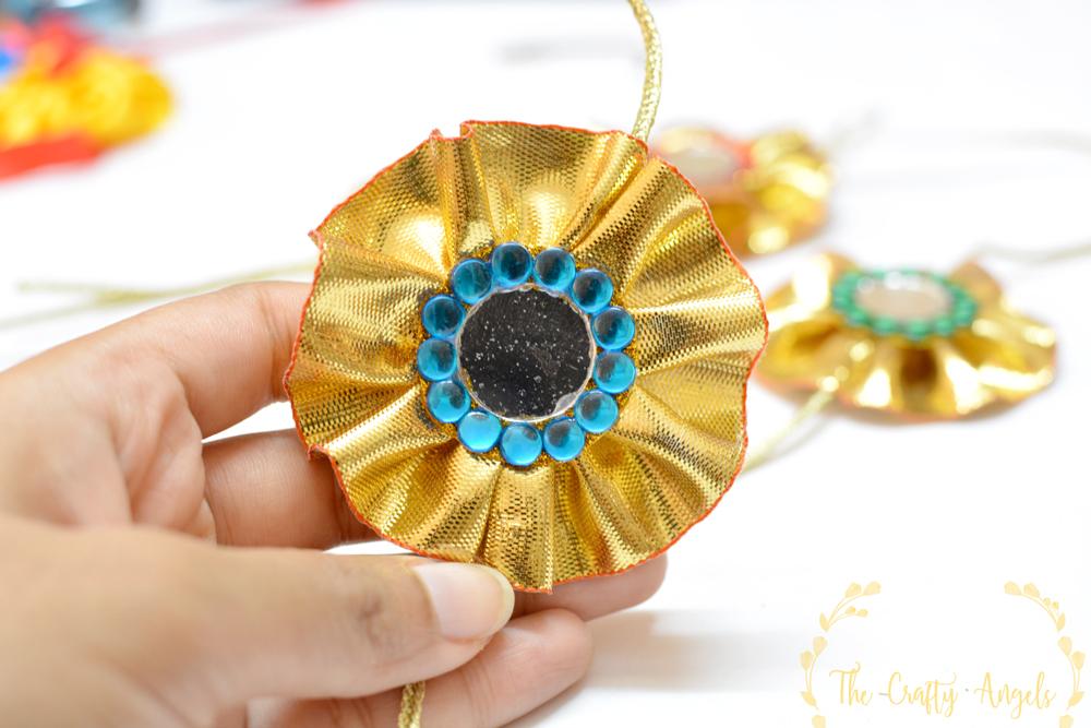 DIY gota lace rakhi