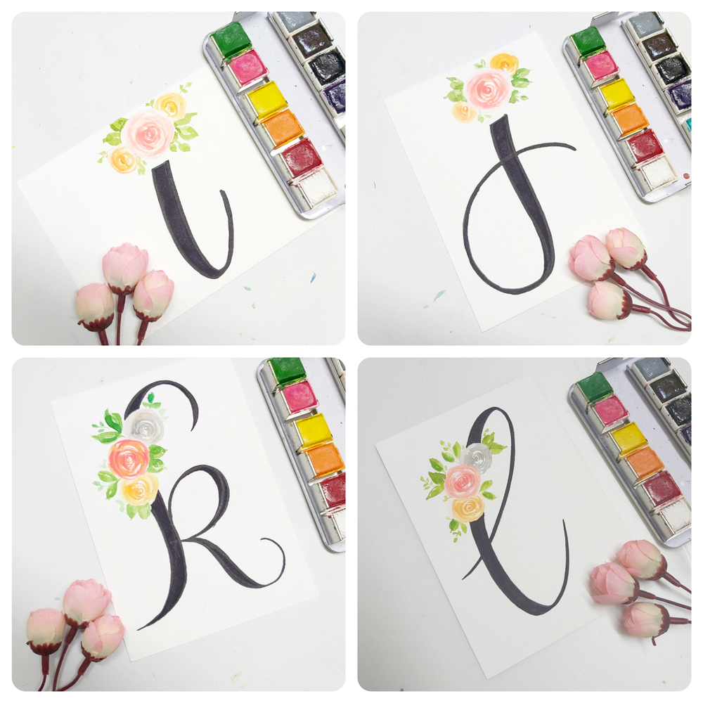floral monogram alphabet i, floral monogram alphabet j, floral monogram alphabet k, floral monogram alphabet l