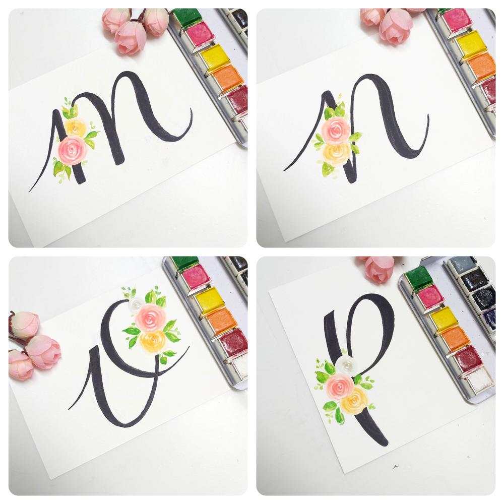 floral monogram alphabet m, floral monogram alphabet n, floral monogram alphabet o, floral monogram alphabet p