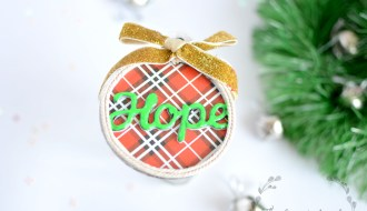 Neon christmas ornament