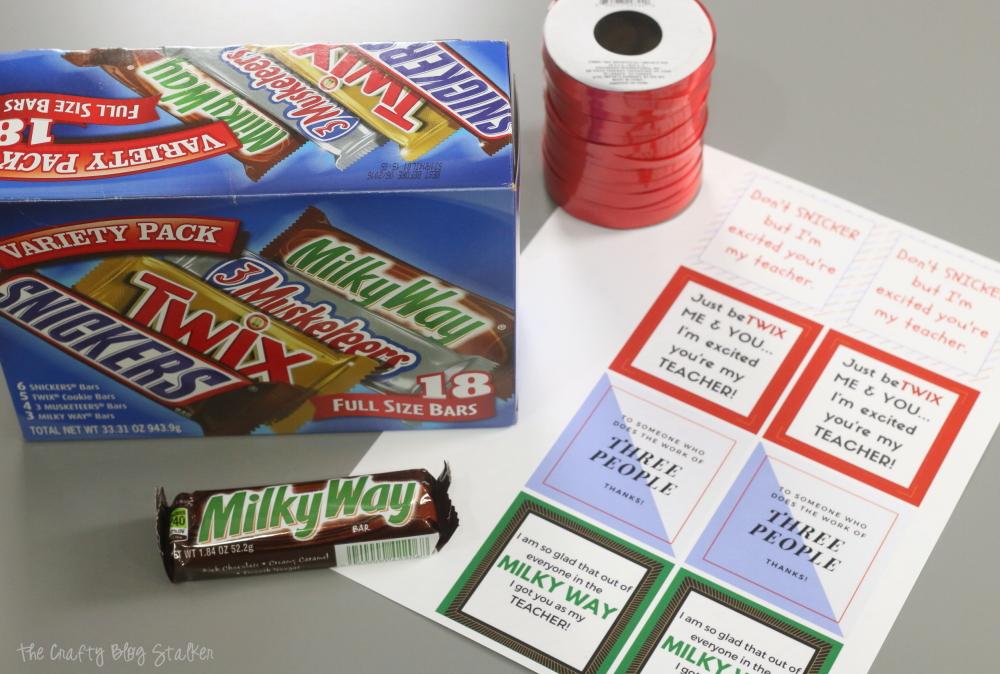 How To Make A Candy Bar Printable Teacher Gift Idea The
