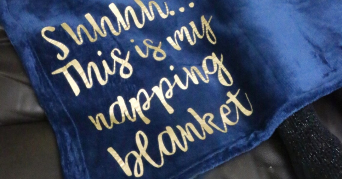 Download How to Make a Napping Blanket with Iron-on Vinyl and Cricut