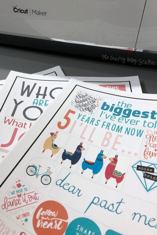Free Printable Stickers For Your Planner With Cricut Print