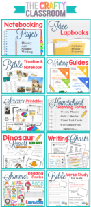 image relating to Free Printable Bible Timeline identified as Homeschool Printables - The Cunning Clroom