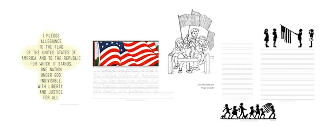 graphic relating to Pledge of Allegiance Printable named Pledge of Allegiance Printables - The Cunning Clroom