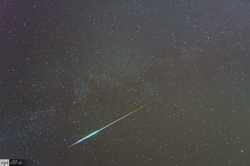 """Perseiden Meteor (2009)"" by Andreas Möller. Licensed under CC BY-SA 3.0 de via Wikimedia Commons - http://commons.wikimedia.org/wiki/File:Perseiden_Meteor_(2009).jpg#/media/File:Perseiden_Meteor_(2009).jpg"