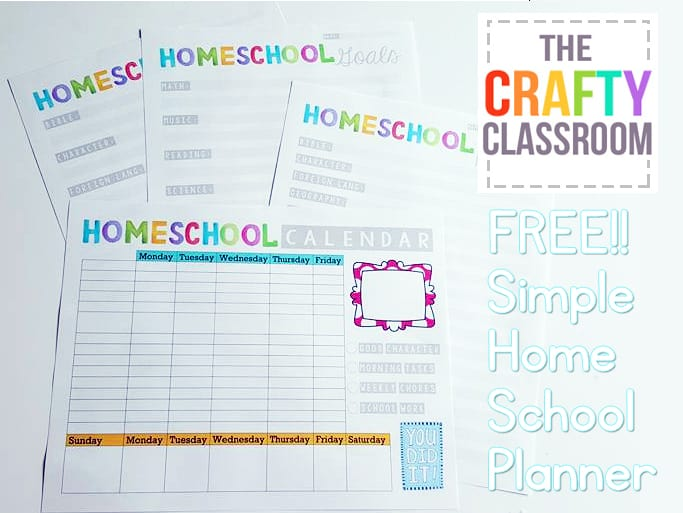 picture regarding Free Printable Homeschool Planner referred to as Absolutely free Homeschool Building Printables - The Cunning Clroom