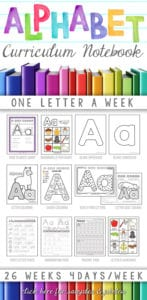 alphabet preschool curriculum notebook p