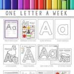 alphabet preschool curriculum notebook p