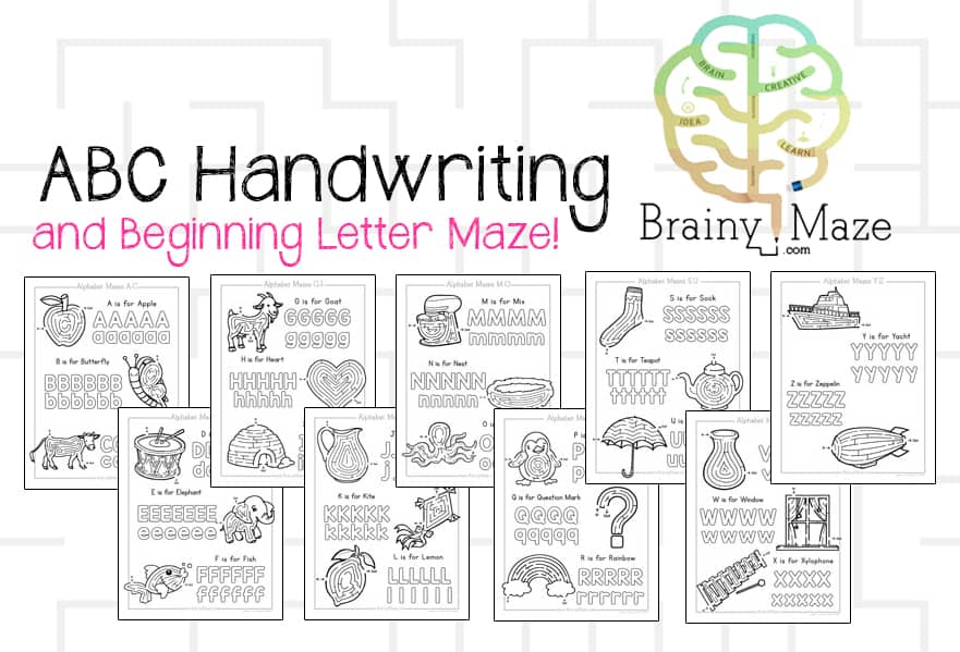 ABCHandwritingMaze
