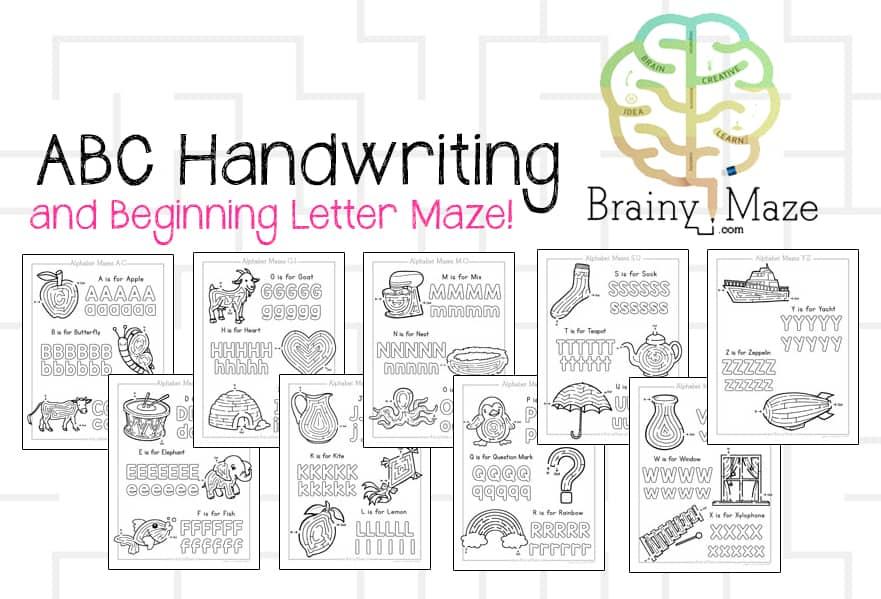 ABCHandwritingMaze