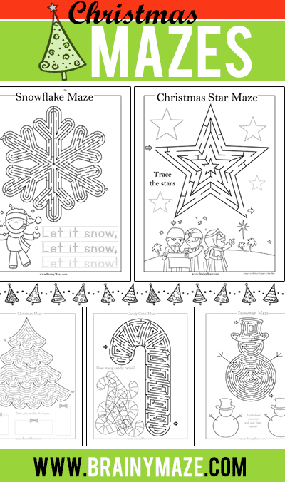 photograph relating to Christmas Maze Printable known as Printable Xmas Mazes - The Cunning Clroom