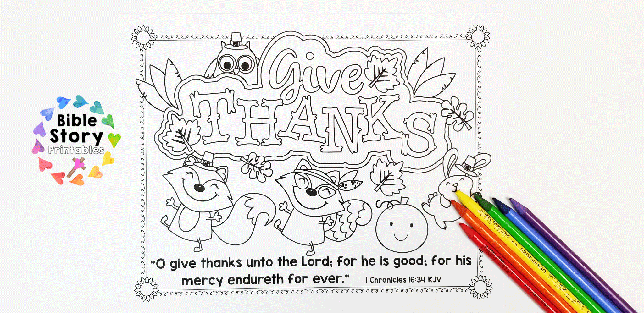 photo about Printable Thanksgiving Placemat titled Printable Thanksgiving Placemat with Bible Verse - The