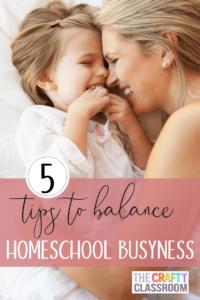 5 Tips to Balance Homeschool Business