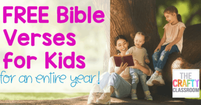 A Year's Worth of Free Bible Verses for Kids