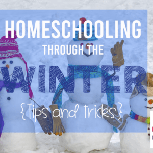 Homeschooling Through The Winter: Tips & Tricks to Make it Through